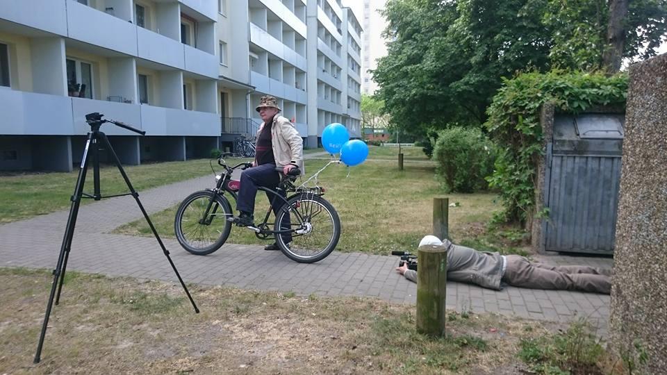 Dreharbeiten am Stern mit Jörg Hecking
